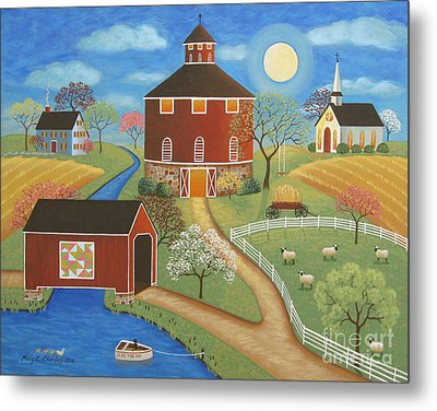 Evening Meadow Metal Print by Mary Charles