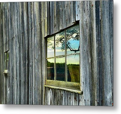 Evening Out At The Barn Metal Print