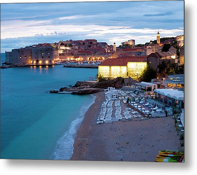 Evening Over Dubrovnik Metal Print by Rae Tucker