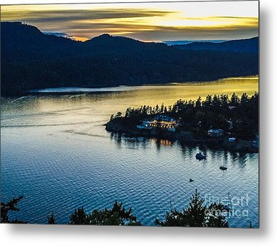 Evening Over Rosario Resort Metal Print by William Wyckoff