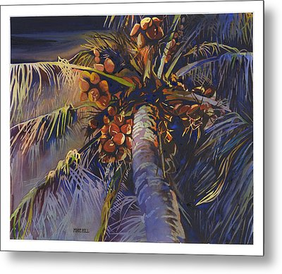 Evening Palm Metal Print by Mike Hill