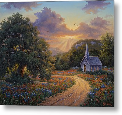Metal Print featuring the painting Evening Praise by Kyle Wood