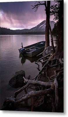 Evening Rain At Lake Mary Metal Print by Cat Connor