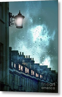 Metal Print featuring the photograph Evening Rainstorm In The City by Jill Battaglia