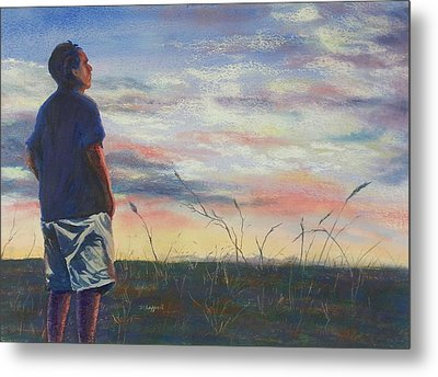 Evening Reflection Metal Print by Becky Chappell