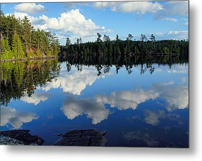 Evening Reflections On Spoon Lake Metal Print