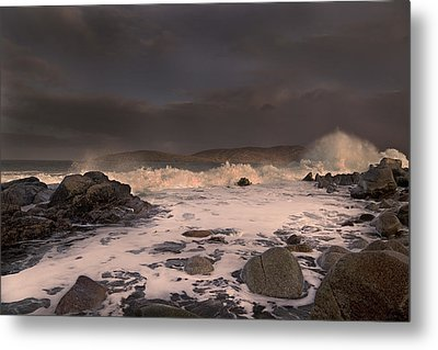 Evening Seascape  Metal Print by Betsy Knapp