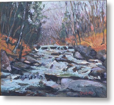 Evening Spillway Metal Print by Alicia Drakiotes