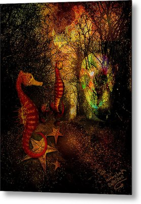 Evening Stroll Metal Print by Mimulux patricia no No