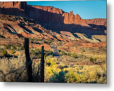 Evening Sun At Capitol Reef N.p Metal Print by Michael J Bauer
