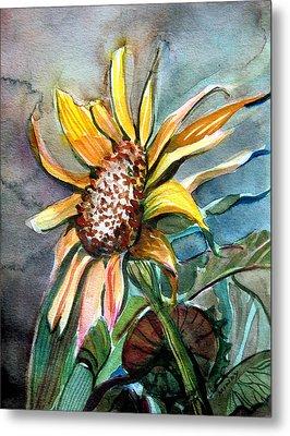 Evening Sun Flower Metal Print by Mindy Newman