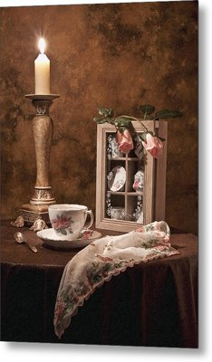 Evening Tea Still Life Metal Print by Tom Mc Nemar