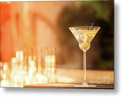 Evening With Martini Metal Print by Ekaterina Molchanova