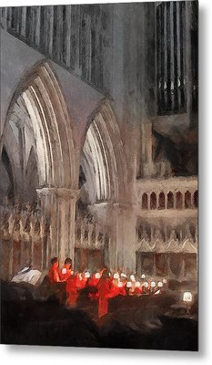 Evensong Practice At Wells Cathedral Metal Print