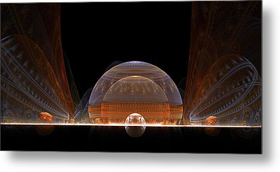 Metal Print featuring the digital art Event Horizon by Richard Ortolano