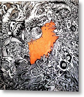 Ever Decreasing Madness Metal Print by Sam Hane