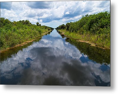 Everglades Canal Metal Print by Christopher L Thomley
