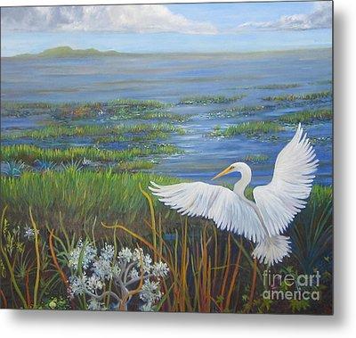Everglades Egret Metal Print