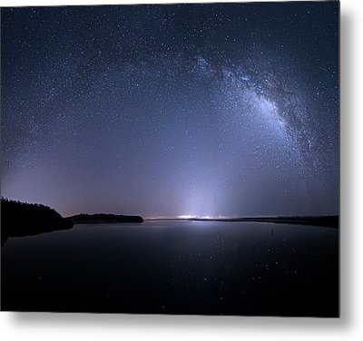 Metal Print featuring the photograph Everglades National Park Milky Way by Mark Andrew Thomas