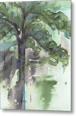 Metal Print featuring the painting Evergreen by Dawn Derman