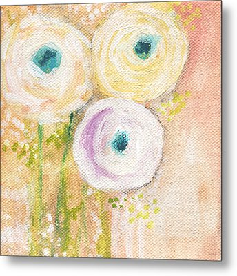 Everlasting- Expressionist Floral Painting Metal Print