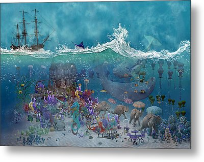 Everything Under The Sea Metal Print by Betsy Knapp