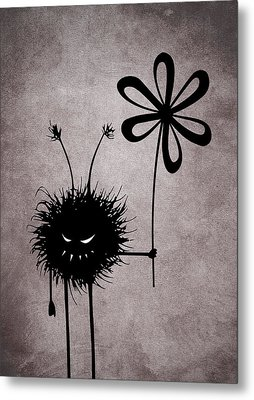 Evil Flower Bug Metal Print