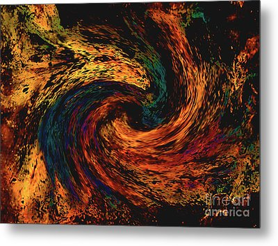 Metal Print featuring the digital art Collision Of Evil Forces by Merton Allen