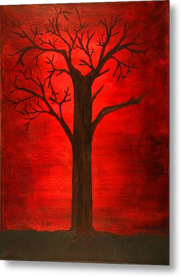 Evil Tree Metal Print by David Stasiak