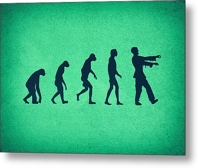 Evolution Of Zombies Zombie Walking Dead Metal Print by Philipp Rietz