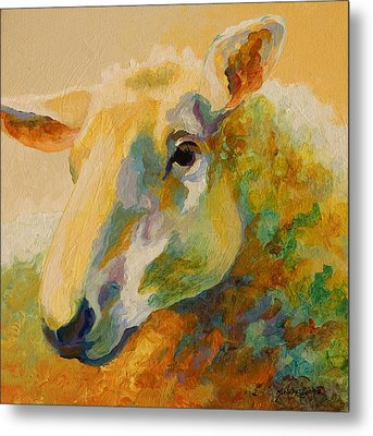 Ewe Portrait IIi Metal Print by Marion Rose
