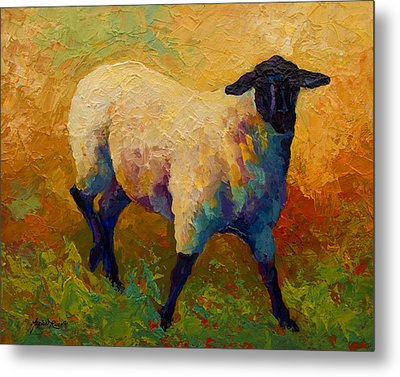 Ewe Portrait Iv Metal Print by Marion Rose
