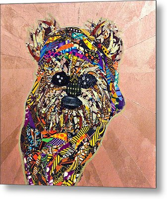 Ewok Star Wars Afrofuturist Collection Metal Print by Apanaki Temitayo M