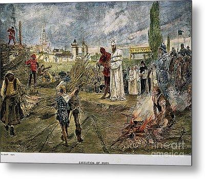 Execution Of Jan Hus, 1415 Metal Print by Granger