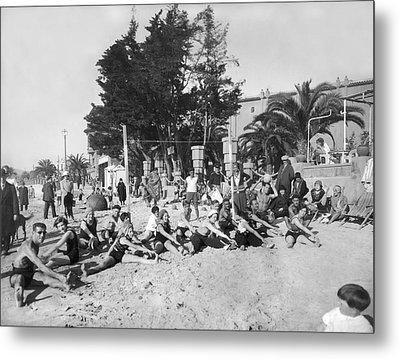 Exercises On The Beach Metal Print