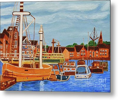 Exeter Ship Canal  Metal Print by Magdalena Frohnsdorff