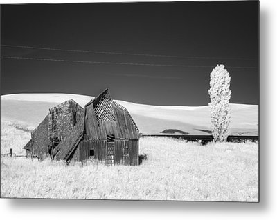 Exhausted Barn Metal Print by Jon Glaser
