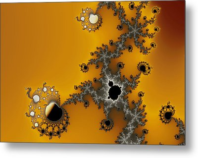 Exiled Mandelbrot No. 75 Metal Print by Mark Eggleston