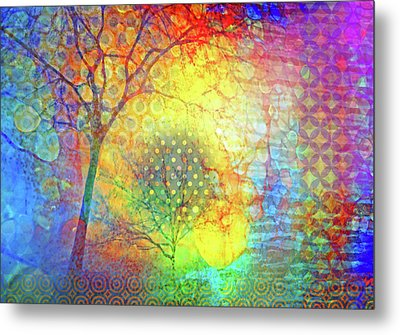 Existing In Colour Metal Print
