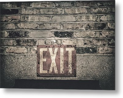 Exit Metal Print by Scott Norris