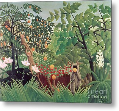 Exotic Landscape Metal Print by Henri Rousseau