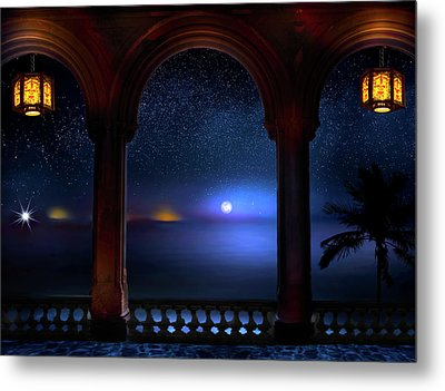 Metal Print featuring the photograph Exotic Night by Mark Andrew Thomas