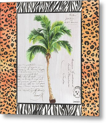 Exotic Palms 1 Metal Print by Debbie DeWitt
