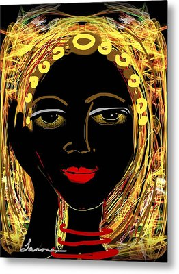Exotic Woman Metal Print