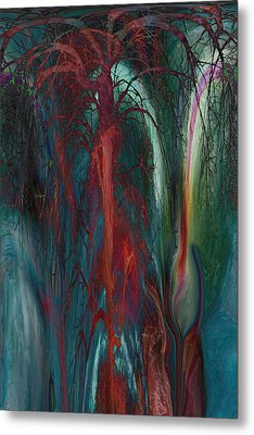 Experimental Tree Metal Print by Linda Sannuti