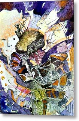 Exploiding Nut Metal Print by Mindy Newman