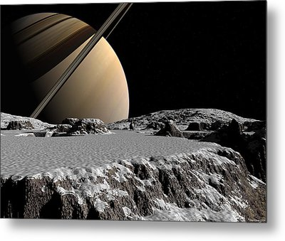 Metal Print featuring the digital art Exploring A New World by David Robinson