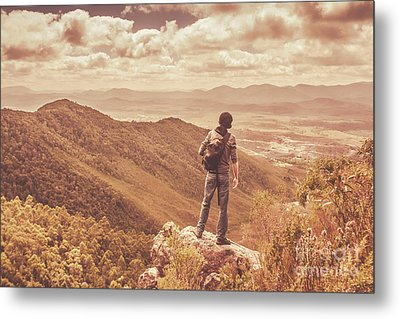 Exploring The Rugged West Coast Of Tasmania Metal Print