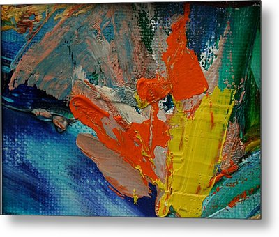 Metal Print featuring the painting Explosion by Karin Eisermann