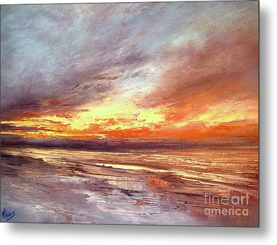 Explosion Of Light Metal Print by Valerie Travers
